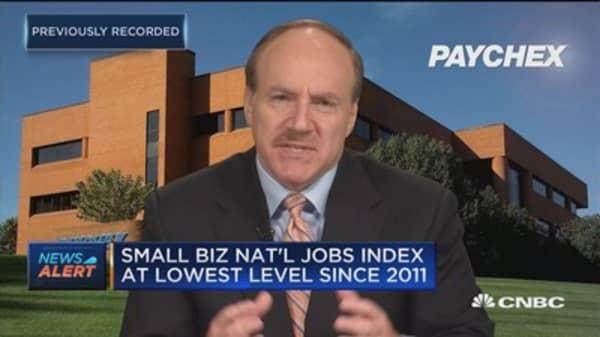 Paychex CEO: Small biz hiring slows slightly