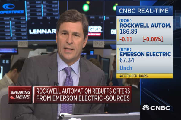 Rockwell Automation rebuffs offers from Emerson Electric: Sources