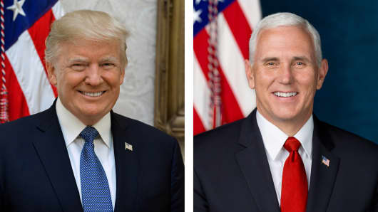 The White House releases the official White House portraits for President Donald Trump and Mike Pence on Oct. 31st, 2017.
