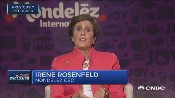 Mondelez CEO Irene Rosenfeld: Our snacking categories are correlated with GDP