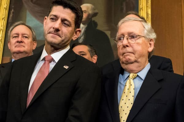 Speaker of House Paul Ryan and Senate Majority Leader Mitch McConnell.