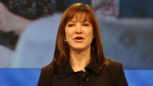 Microsoft executive Julie Larson-Green at a company event in 2008.