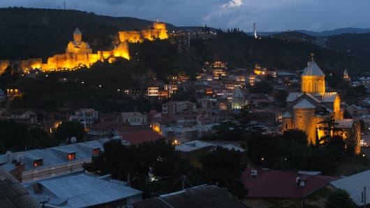 The old city in Tbilisi, Georgia