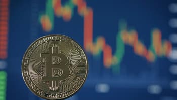 A visual representation of the digital Cryptocurrency, Bitcoin on October 24, 2017 in London, England.
