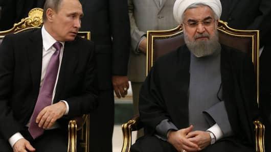 Russian President Vladimir Putin and Iranian President Hassan Rouhani