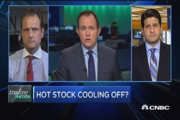Trading Nation: Hot stock cooling off