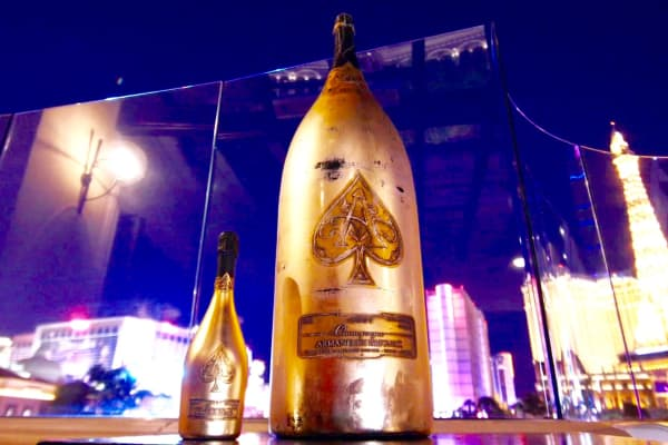 Midas bottle of champagne