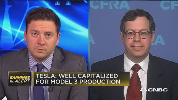 Tesla had 'disappointing' results on Model 3 production: CFRA's Efraim Levy