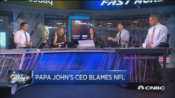 Here's why the CEO of Papa John's is blaming the NFL for its falling stock