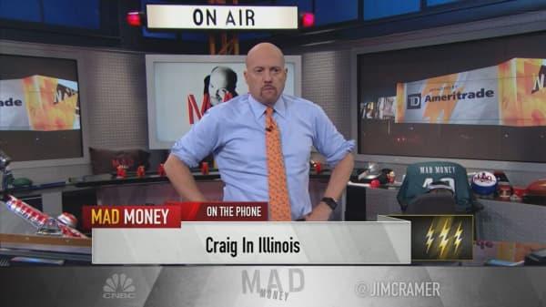 Cramer's lightning round: Don't take profits in American Express' stock