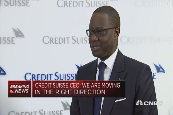 Restructuring is progressing at enormous pace, Credit Suisse CEO says