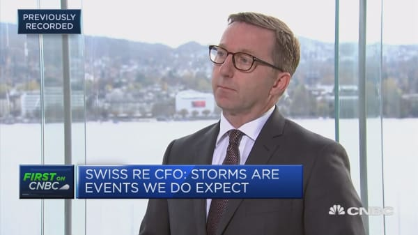 Many leaders need to be aware of climate change, Swiss Re CFO says