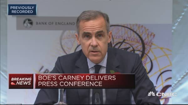 Today's interest rate decision was straightforward: BoE's Carney Brexit means that these are not normal times