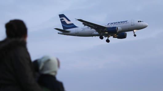 A Finnair plane