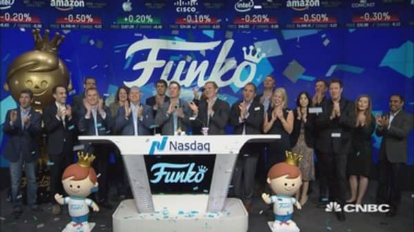 Funko celebrates initial public offering at the Nasdaq MarketSite