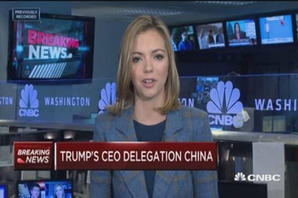 29 executives to join Trump's China delegation