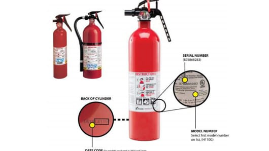 Kidde Recalls Fire Extinguishers with plastic handles due to failure to discharge and nozzle detachments.