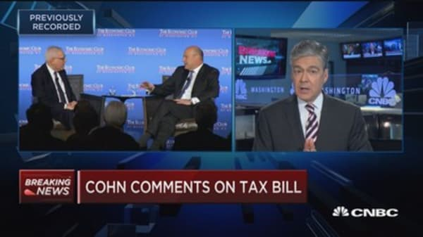 Gary Cohn says tax bill won't increase deficit