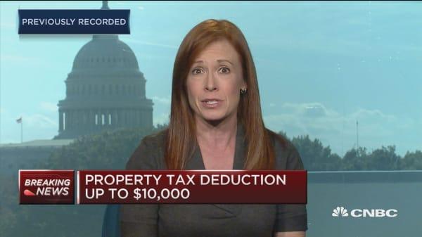 Homebuilder stocks hit on mortgage deduction proposal