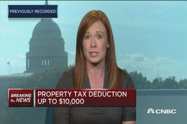 Homebuilder stocks hit on mortgage deduction proposal