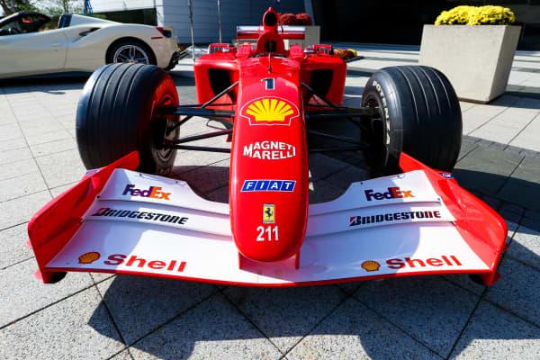 Ferrari F1 car Michael Schumacher used to win the Monaco Grand Prix and F1 driver's championship in 2001.