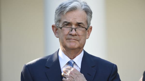 Jerome Powell listens as US President Donald Trump announces Powell as nominee for Chairman of the Federal Reserve in the Rose Garden of the White House in Washington, DC, November 2, 2017.