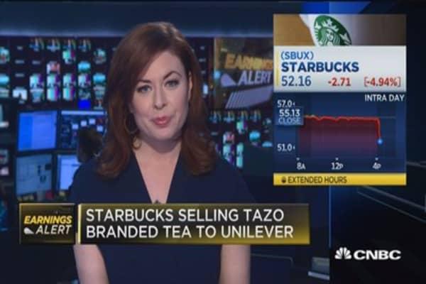 Starbucks misses on top line