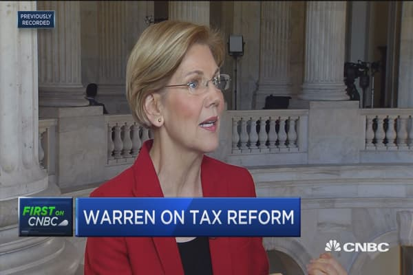 Sen. Elizabeth Warren: The GOP tax plans gives billions to Wells Fargo