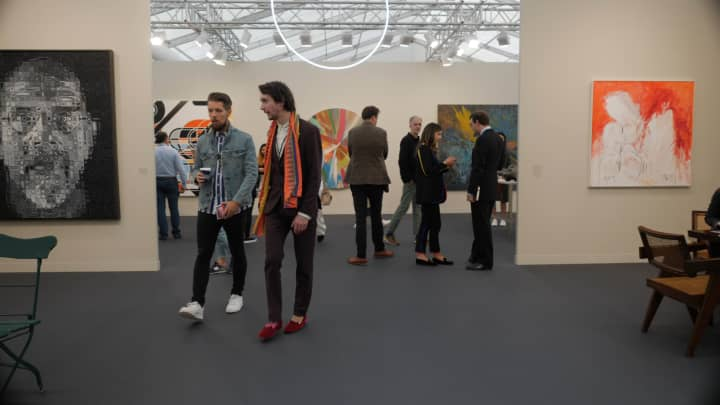 Frieze Art Fair in London is a major venue for new art buyers.