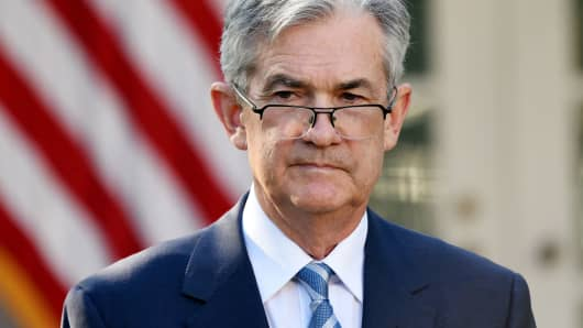 Jerome Powell, governor of the U.S. Federal Reserve and President Donald Trump's nominee as chairman of the Federal Reserve, arrives to a nomination announcement in the Rose Garden of the White House in Washington, D.C., on Thursday, Nov. 2, 2017.