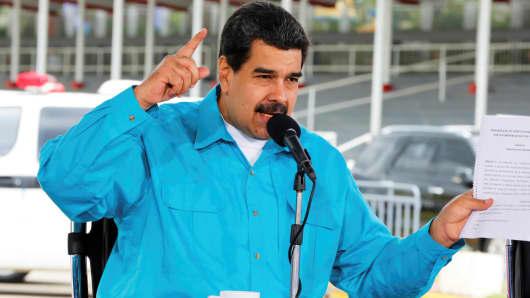 Venezuela's President Nicolas Maduro speaks in Caracas, Venezuela November 2, 2017.
