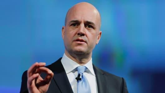 EITI Chairman Fredrik Reinfeldt.