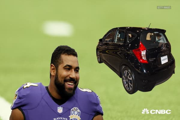 This NFL player who retired to pursue a PhD at MIT drives a used hatchback