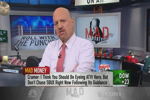 Cramer explains the crazy post-earnings action in Starbucks and Activision Blizzard