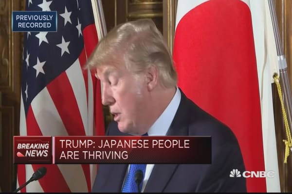 Trump: Japanese economy not as good as ours