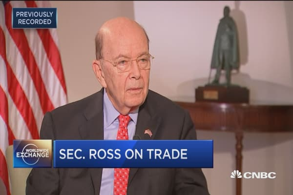 Commerce Secretary Wilbur Ross on China trip - Asia countries all talk free trade but practice protectionism