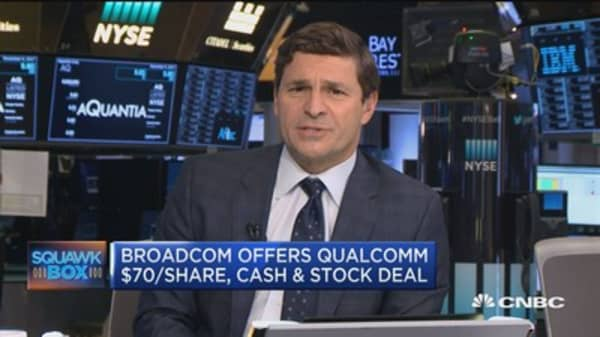 Qualcom expected to reject Broadcom's 'hostile' bid: CNBC's David Faber