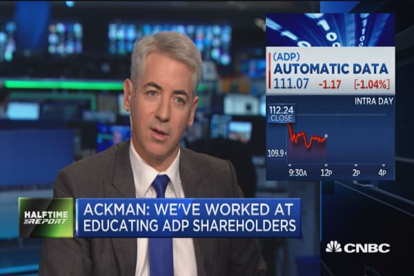 Hedge fund activist Bill Ackman: We can increase margins at ADP by 60 percent