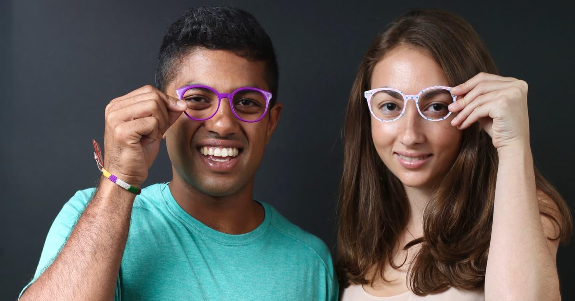 Nathan Kondamuri and Sophia Edelstein, co-founders of Pair Eyewear