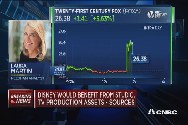 Analyst: A potential deal between 21st Century Fox and Disney is a 'dream come true'