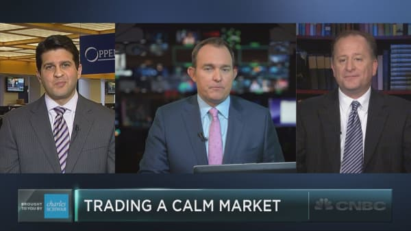 Trading a calm market as volatility sinks to new lows