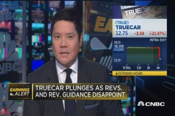 TrueCar plunges as revenues and guidance disappoint