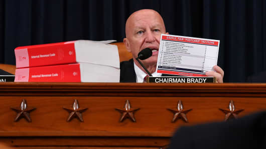 Top House tax-writer won't accept plank of Senate tax-cut plan