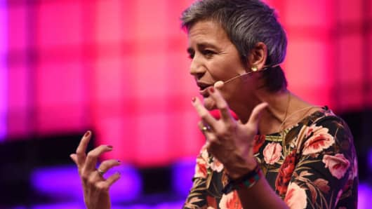Margrethe Vestager, European Commissioner for Competition, European Commission, on centre stage during the Web Summit 2017