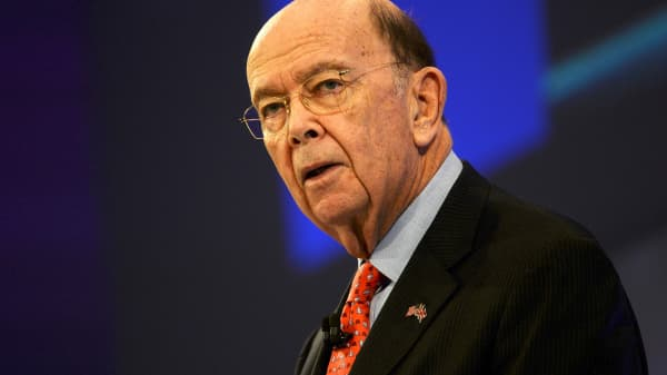 Commerce Secretary Wilbur Ross, speaks at the Conferederation of British Industry's annual conference in London, Britain, November 6, 2017.