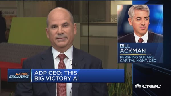 ADP CEO: We hope vote sent Ackman and activists a message