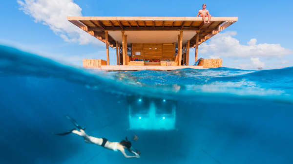 Eat, drink and sleep in this amazing underwater hotel room