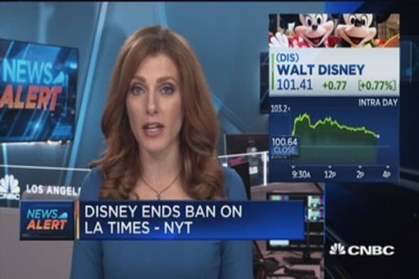 Disney ends ban on LA Times at screenings, says New York Times