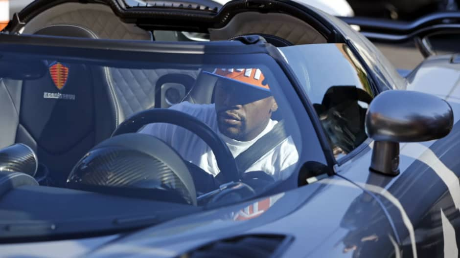 Floyd Mayweather behind the wheel of the CCXR Trevita.