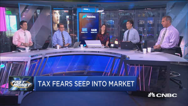 The market's getting nervous about tax reform